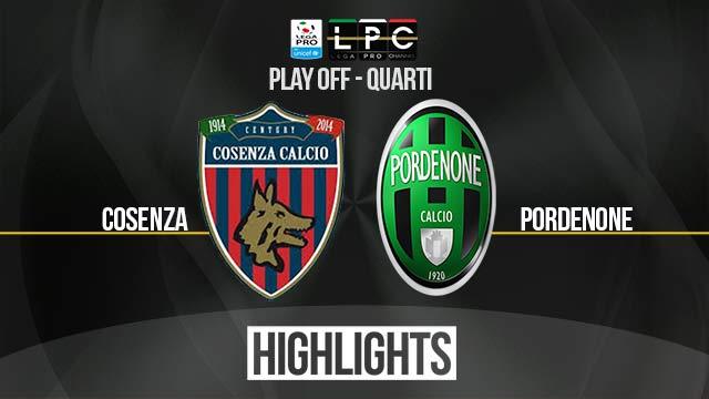 Cosenza – Pordenone 0-0 – Highlights – Lega Pro- Quarti di Finale – Ritorno – Playoff 2017
