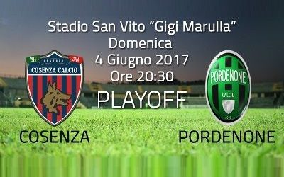 Cosenza – Pordenone – 0 – 0 Highlights Quarti di finale – Ritorno – Play Off 2017